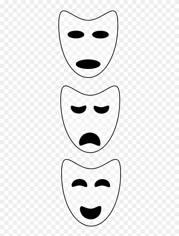 Cool Clipart Theatre Masks - Drama Masks Clipart – Stunning free