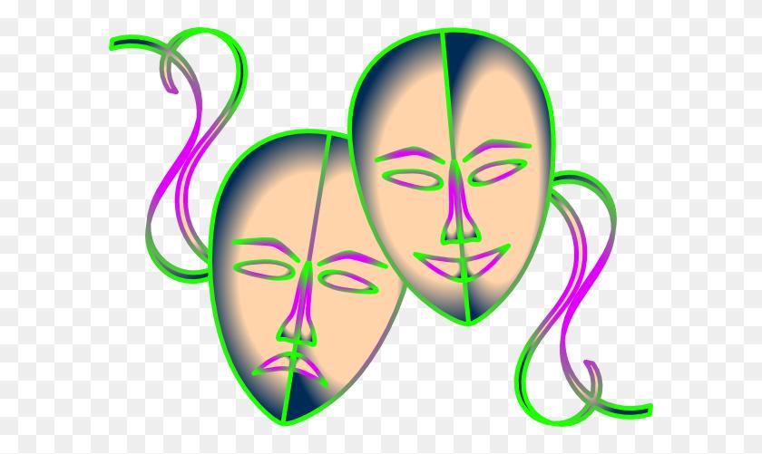 600x441 Drama Masks Clip Art - Free Drama Clipart