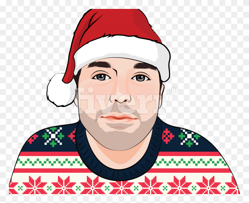 Draw Your Picture Wearing The Ugly Christmas Sweater - Ugly Christmas Sweater Clipart