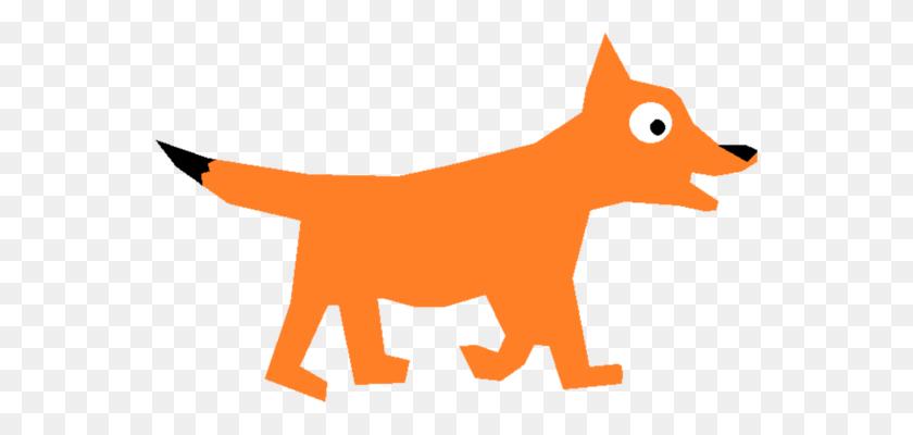 Drawing Fox Running Art - Running Cat Clipart