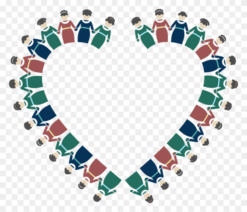 Drawing Holding Hands Woman Clip Art Women - Heart With Hands Clipart