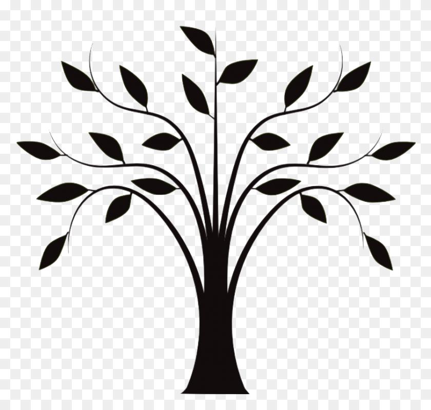 Drawing Tree Trunk Clip Art - Black Tree Clipart