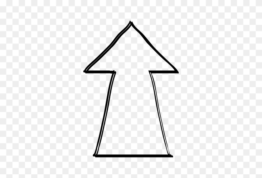 Drawn Arrow Pencil - Rustic Arrow PNG