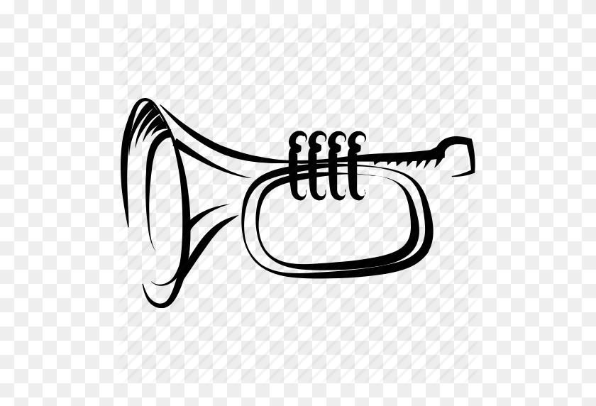 512x512 Drawn Instrument Horn - Mellophone Clipart