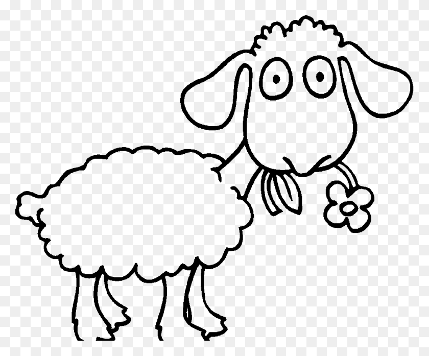 Drawn Sheep Colouring Page - Elk Clipart Black And White