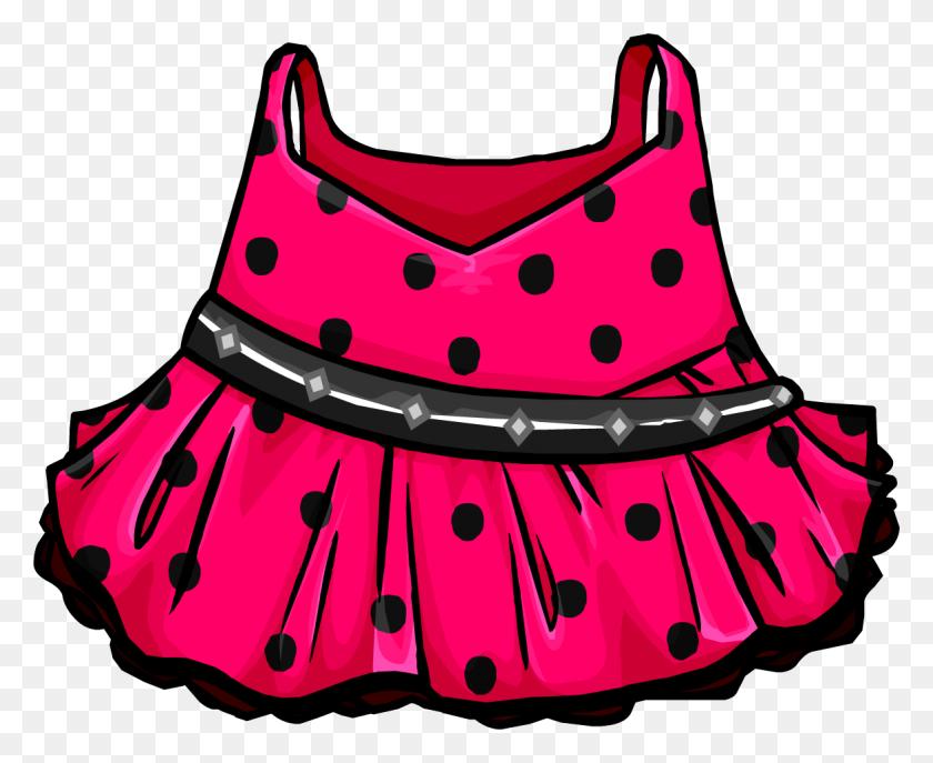 Dress Clipart Pink Polka Dot - Modest Clipart
