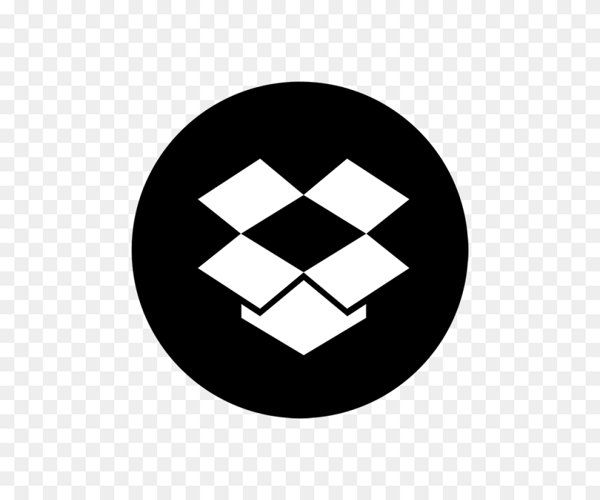 Dropbox Black Ampamp White Icon, Dropbox, Drop, Box Png And Vector - White Box PNG