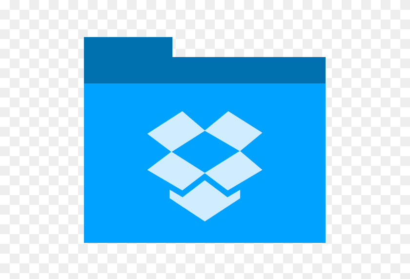 Dropbox, Folder Icon Free Of Phlat Blue Folders Icons - Dropbox Logo PNG