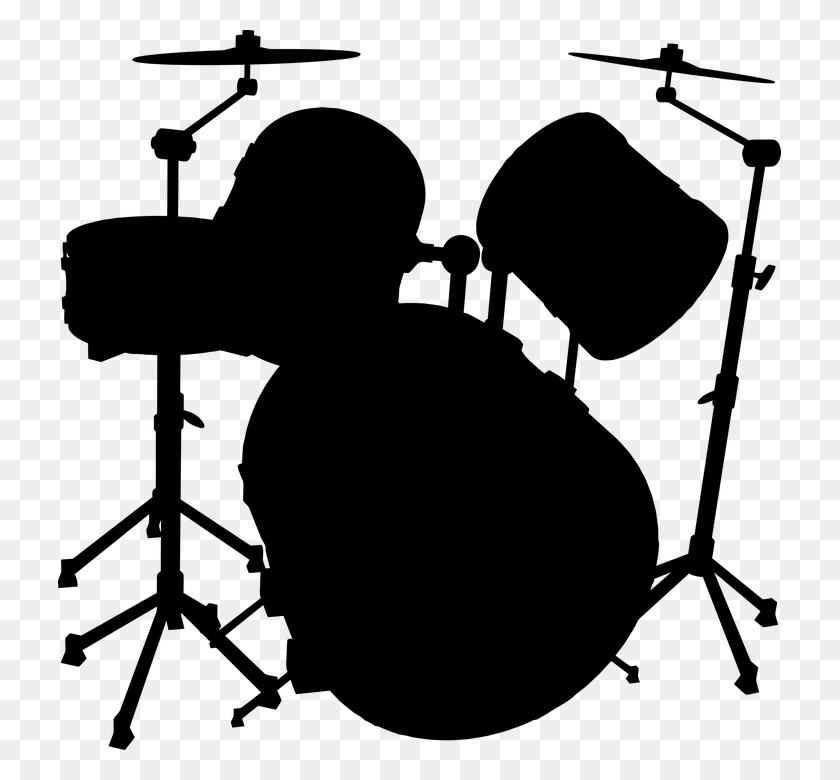 Drum Set Png Black And White Transparent Drum Set Black And White - Drum Set Clipart Black And White