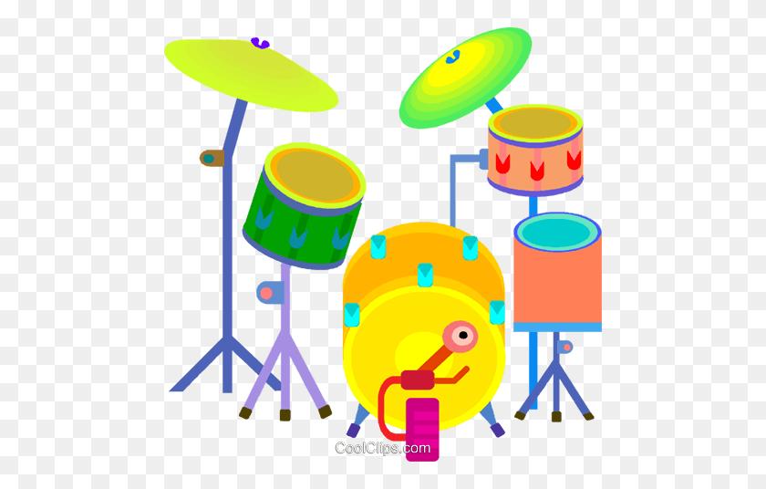 Drum Set Royalty Free Vector Clip Art Illustration - Drum Set Clip Art