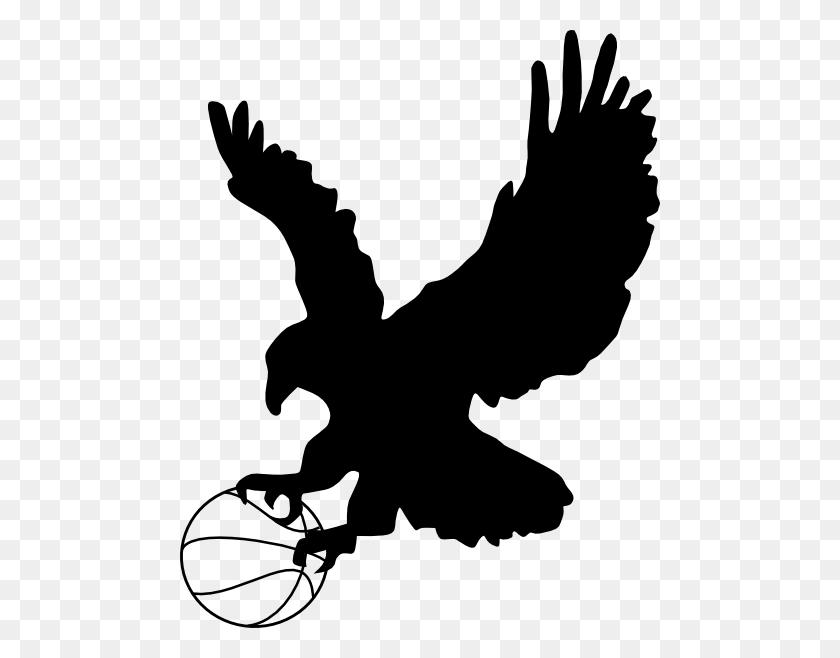 480x598 Eagle Clipart Basketball - Basketball And Net Clipart
