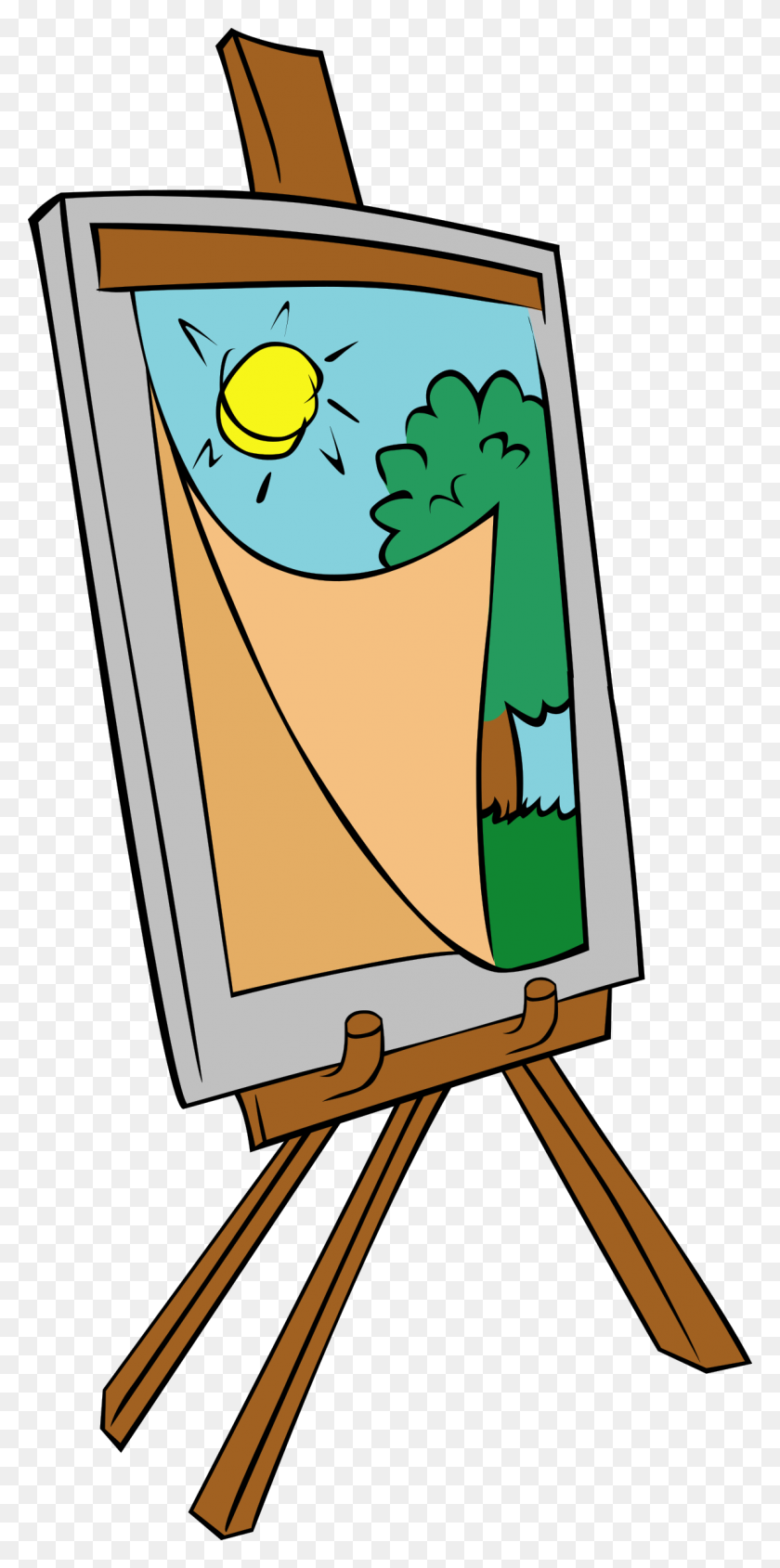 Easel With Kids Painting Icons Png - Painting PNG