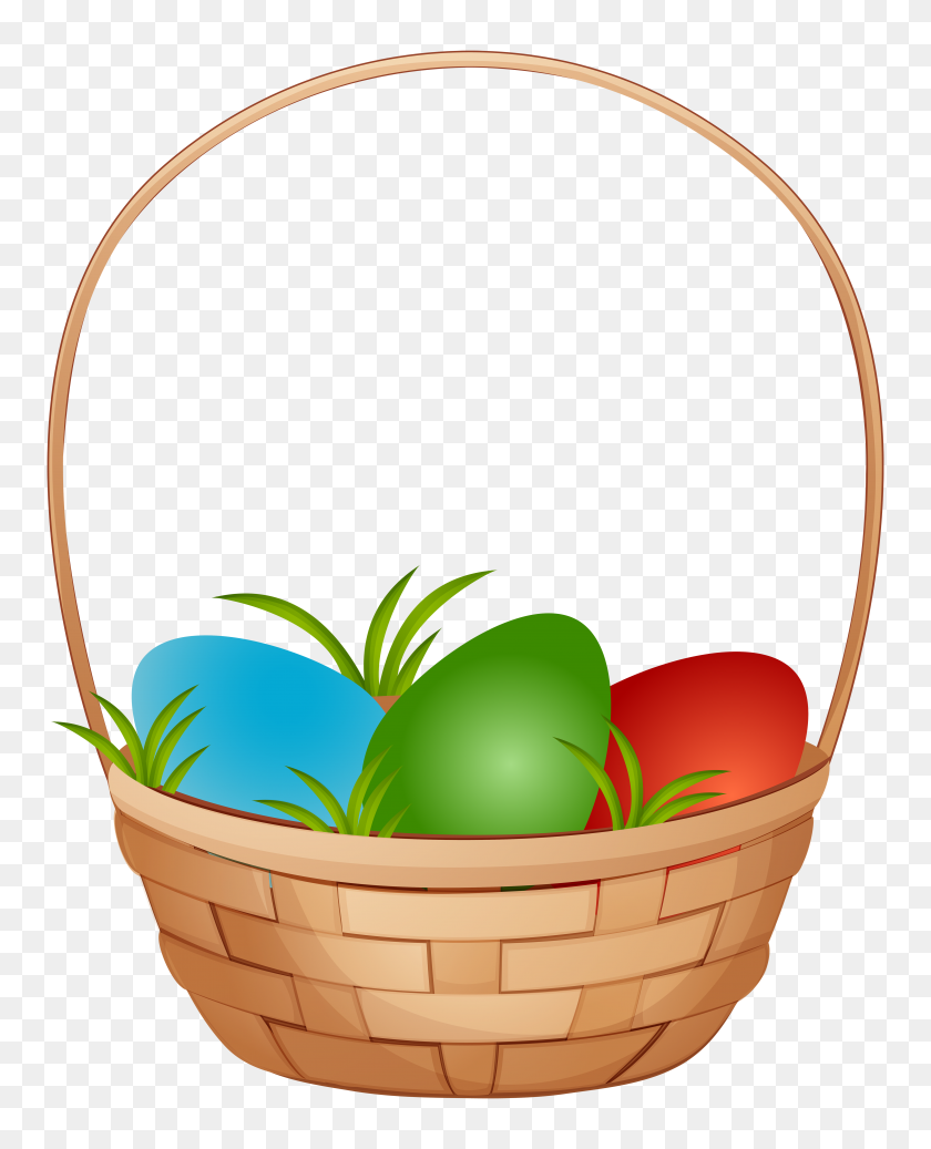 Easter Basket With Eggs Png Clip Art - Photo Album Clipart