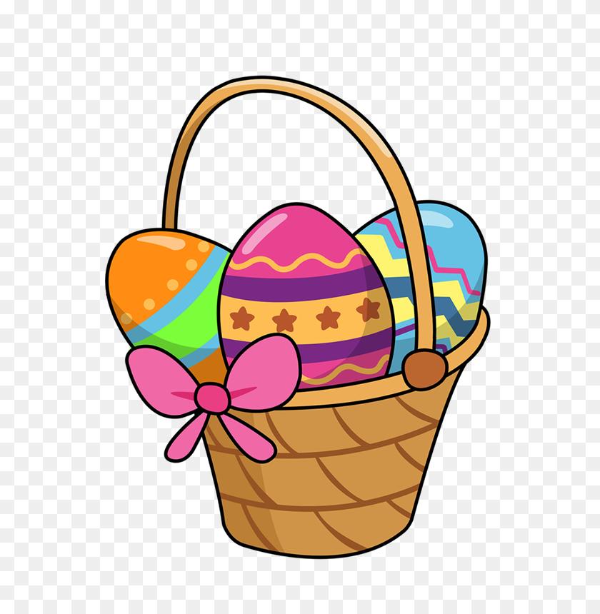 Easter Baskets Clip Art Image - Picnic Basket Clipart