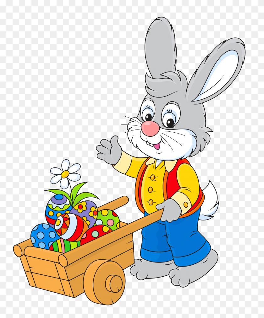 4190x5126 Easter Bunny Rabbit Easter Egg Clip Art - Free Easter Bunny Clipart