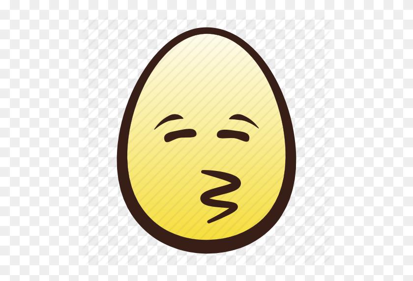 Easter, Egg, Emoji, Eyes, Face, Head, Kissing Icon - Kissing Emoji PNG