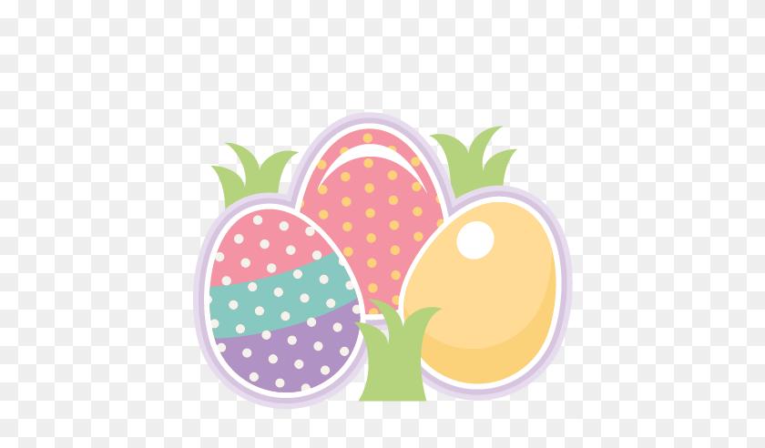 432x432 Easter Eggs Scrapbook Cute Clipart - Free Easter Clip Art