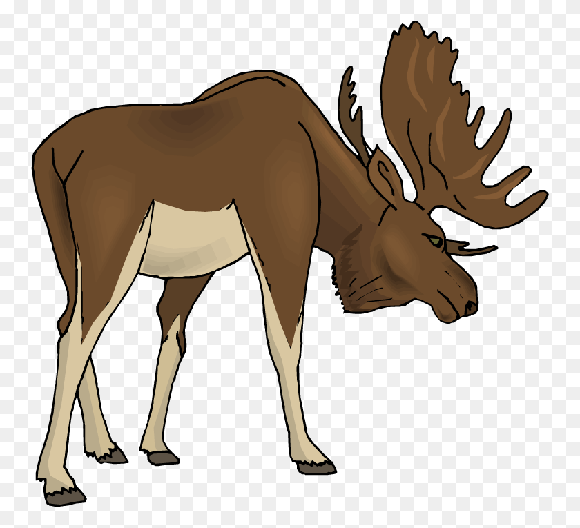 750x705 Easter Moose Cliparts - Moose Silhouette PNG