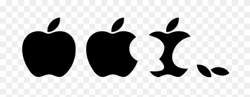 Eaten Apple Logo Vector Clip Arts, Free Clip Art - Eaten Apple Clipart