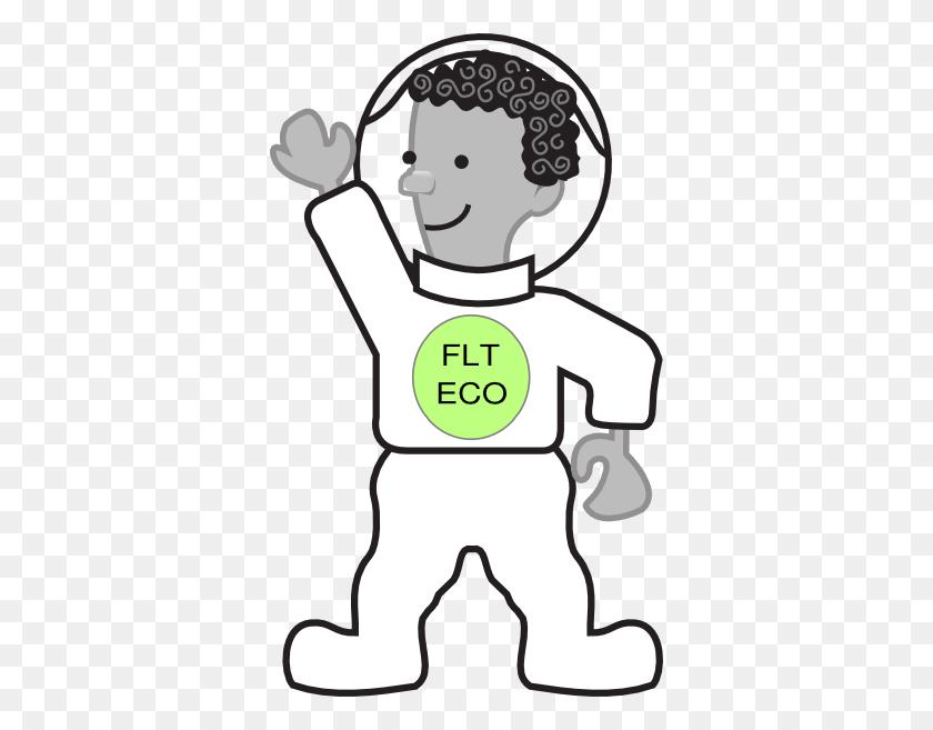 Eco Kid In Spacesuit Clip Art - Pat Clipart