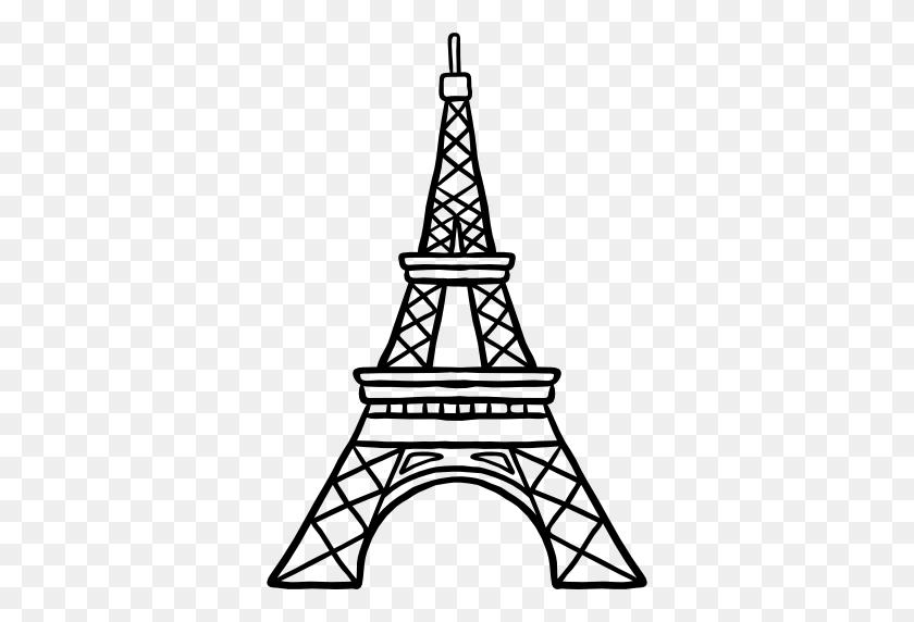 Eiffel Tower Silhouette Transparent Background, Free Vintage - Paris Eiffel Tower Clipart