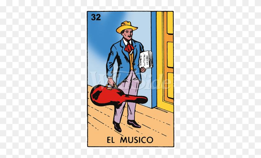 450x450 El Musico Loteria The Wild Side - Loteria Clip Art