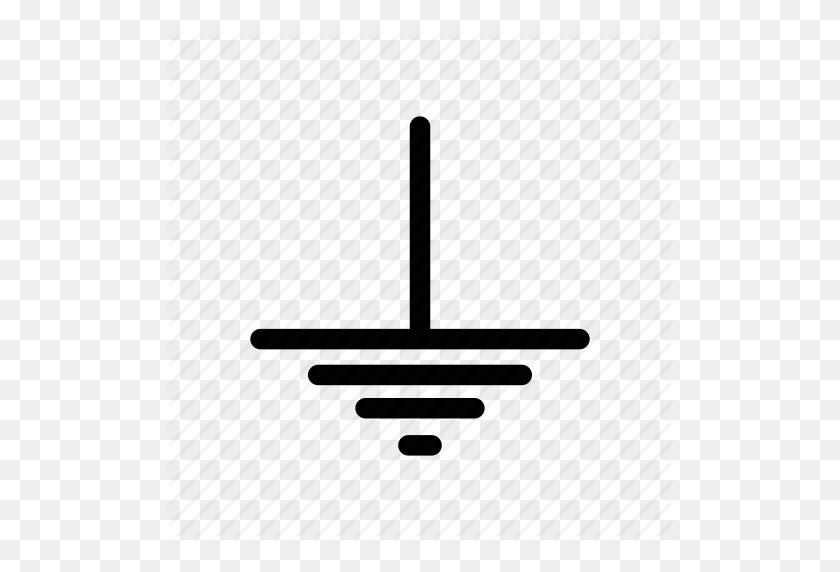 Electric Ground, Gnd, Ground, Ground Symbol, Voltage Ground Icon - Ground PNG
