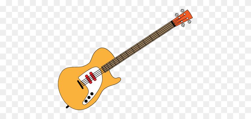 Electric Guitar Bass Guitar Art Musical Instruments Free - Guitar Clip Art Free