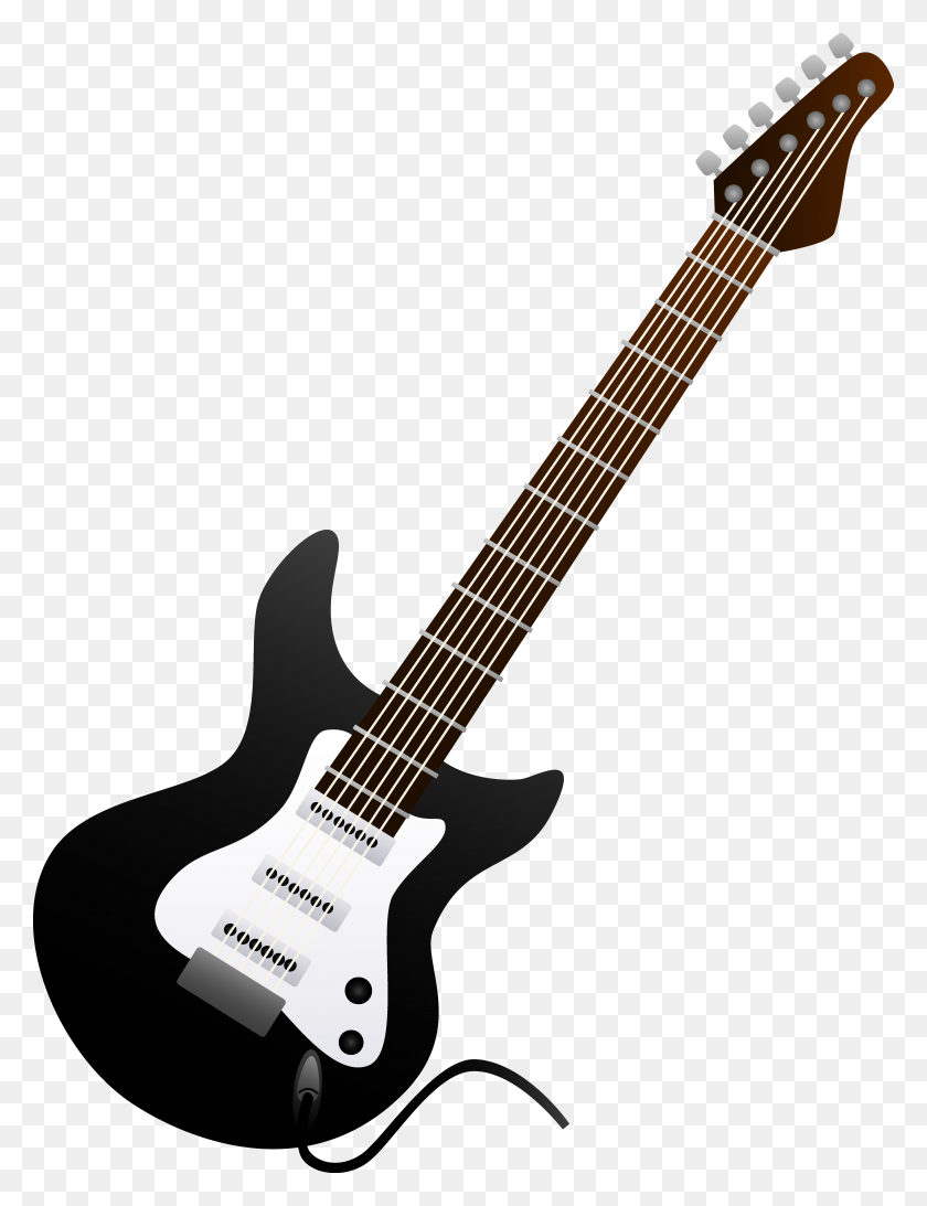 Electric Guitar Clipart Black And White - Musical Instruments Clipart Black And White