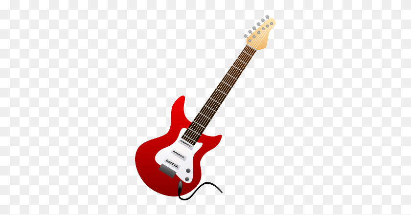 Electric Guitar In Monochrome Clip Art - Upright Bass Clip Art