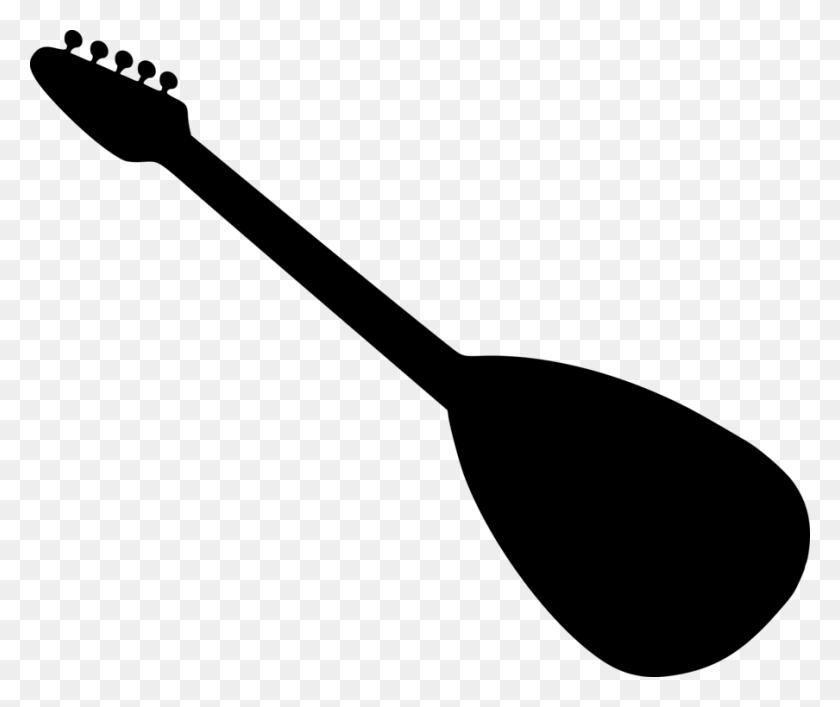 Electric Guitar Silhouette Acoustic Guitar Drawing - Steel Guitar Clip Art