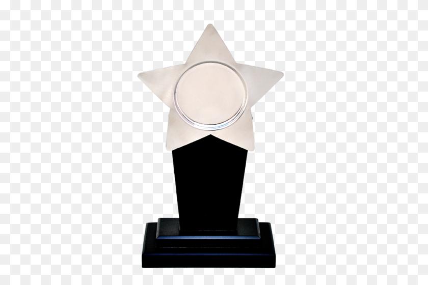 Elegant Silver Star Trophy, Shape Custom Shape, Rs Number - Silver Star PNG