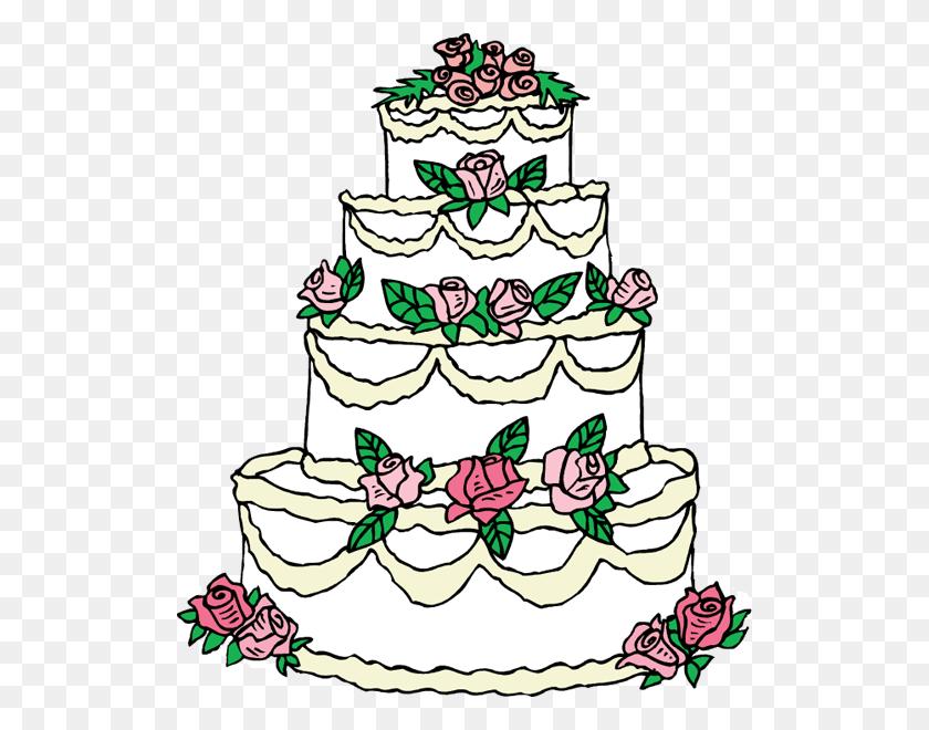 Elegant Wedding Cake Clip Art - Elegant Clipart