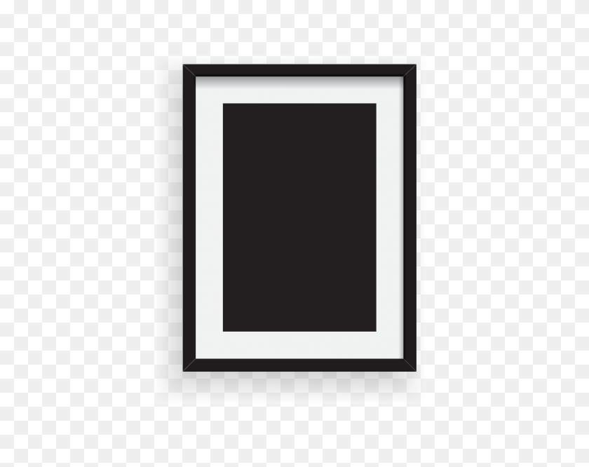 Elemento De Moldura De Foto Preto E Branco Minimalista Dos - Molduras PNG Para Fotos