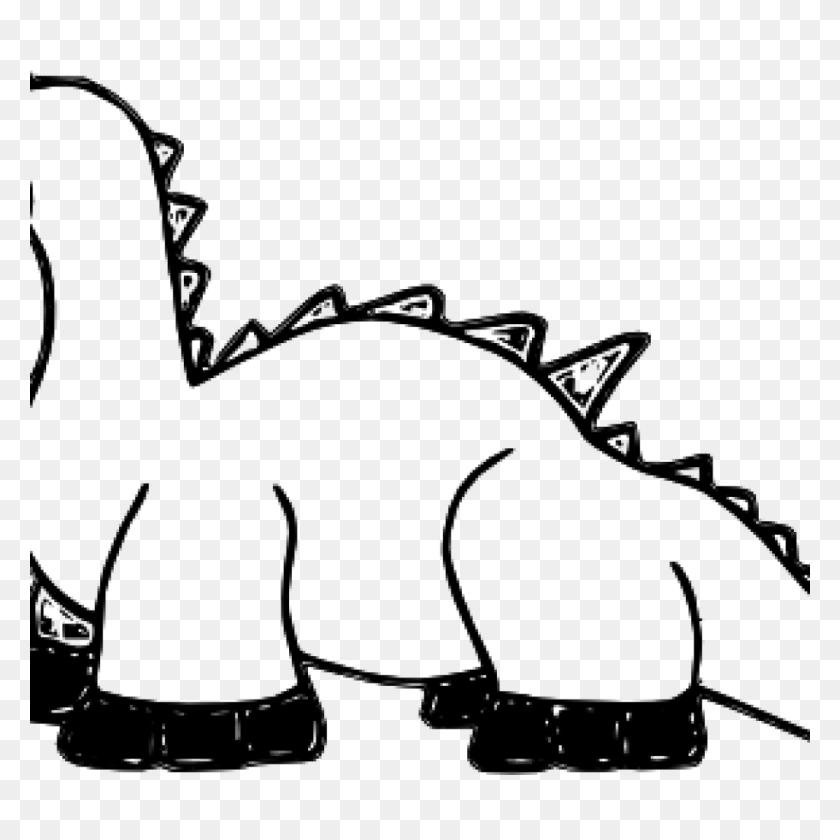 Elephant Clipart Black And White Letters Format Dinosaur - Dinosaur Birthday Clipart