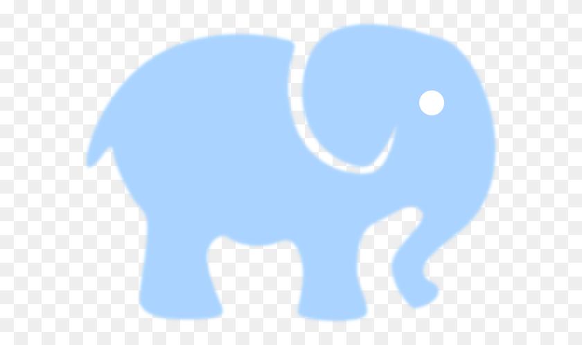 Elephant Clipart Light Blue - Mom And Baby Elephant Clipart