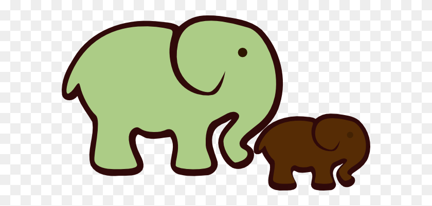 Elephant Mom Baby Png, Clip Art For Web - Mom And Baby Elephant Clipart