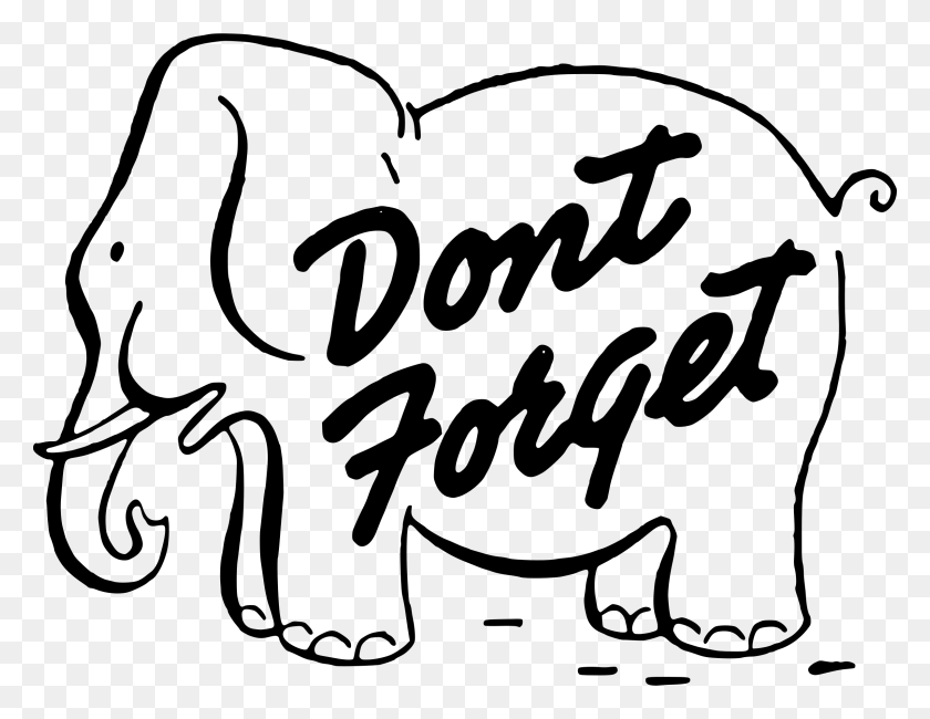 2400x1818 Elephant Reminder Clipart Clipartxtras - Meeting Clipart Images