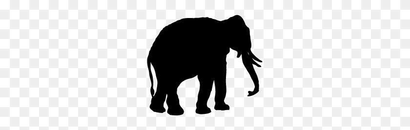 Elephant Silhouette Clip Art - African Elephant Clipart
