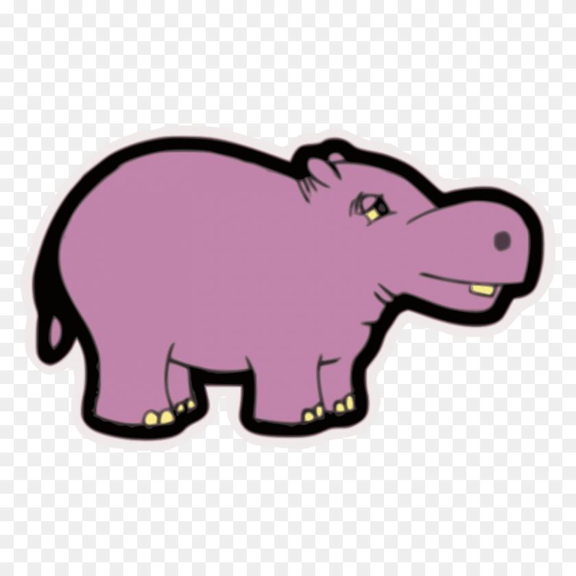 Elephants Baby Hippopotamus Clip Art The Hippo - Baby Hippo Clipart