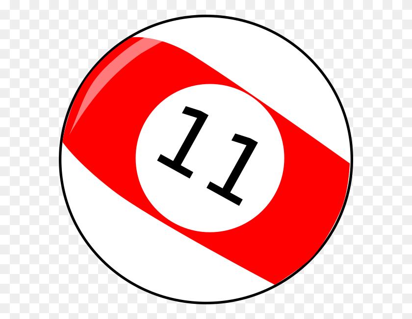 Eleven Billiard Ball Clip Art - Pool Balls Clipart