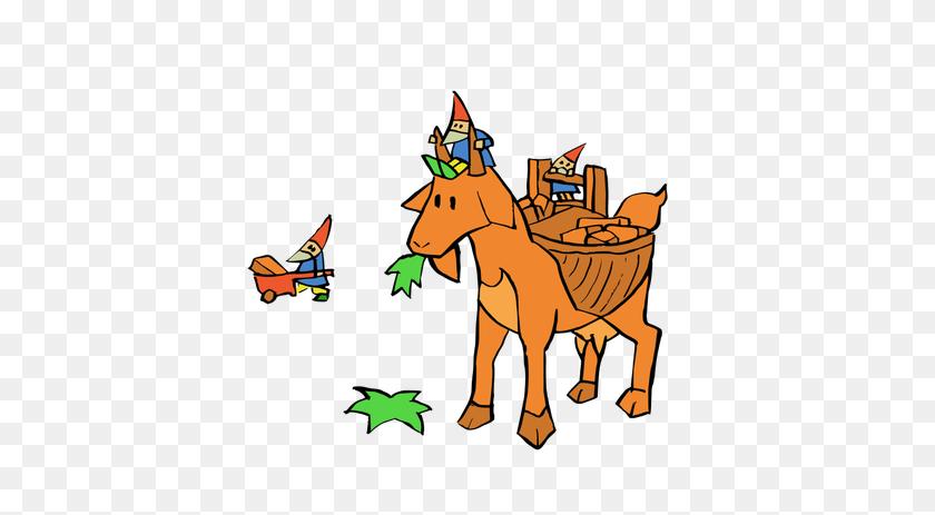 Elfs And Goat - Boer Goat Clip Art