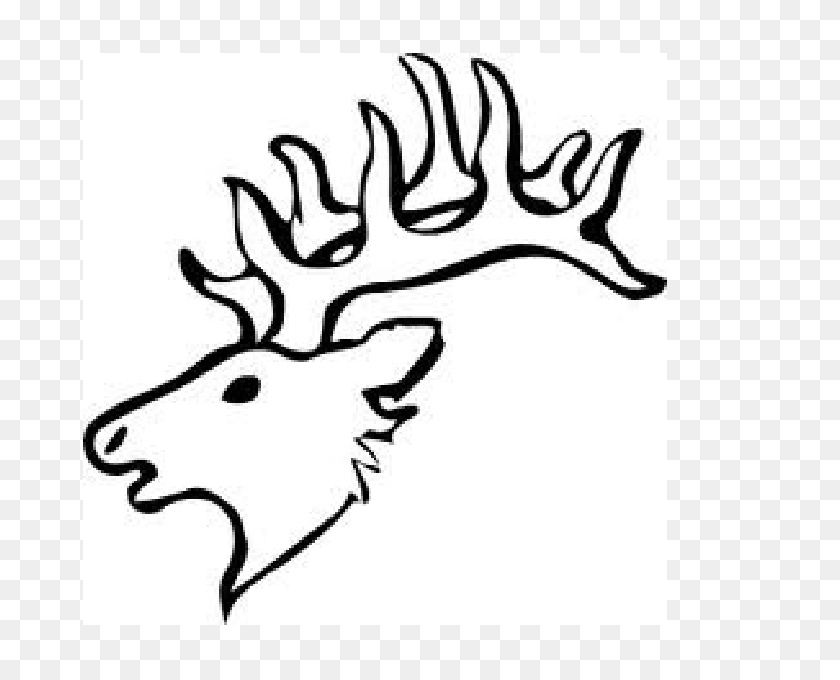 Elk Head Pattern Charles Projects Deer, Clip Art - Elk Head Clip Art