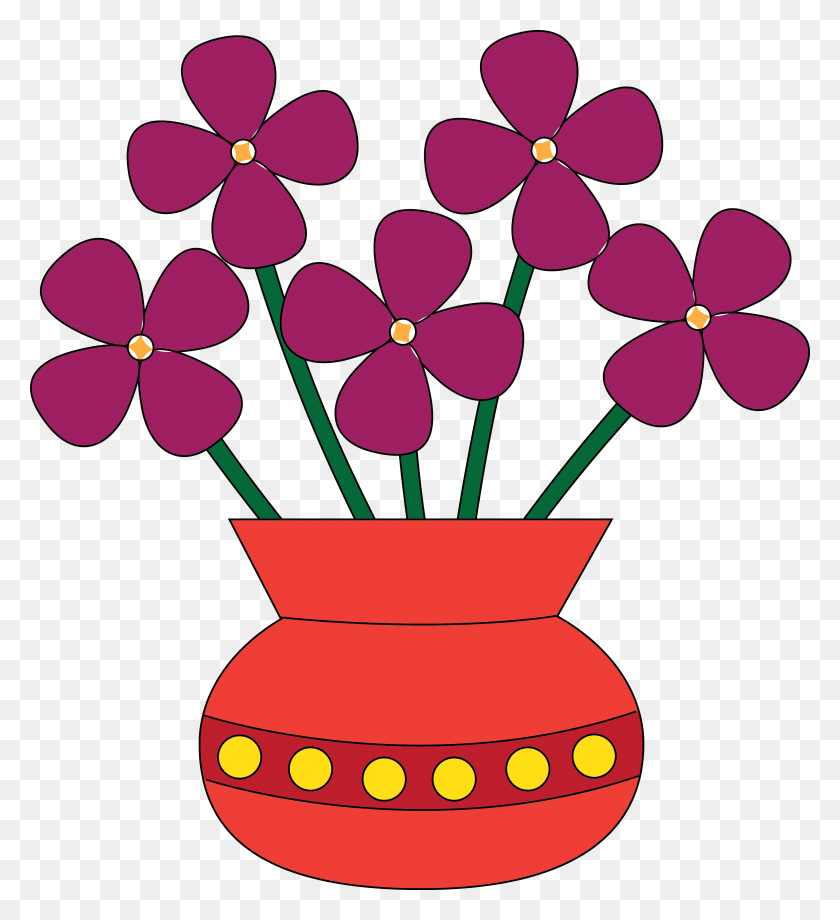 Elower Clipart Four - Hearts And Flowers Clipart