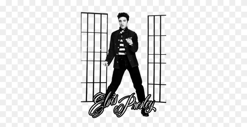 Elvis Presley Promoting Jailhose Rock Copy Elvis Presley - Elvis PNG
