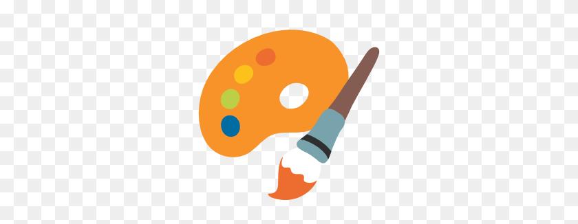266x266 Emoji Android Artist Palette - Artist Palette Clip Art Free
