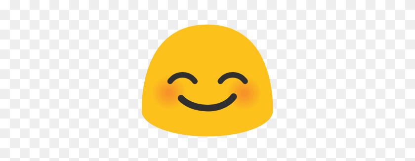 Emoji Android Smiling Face With Smiling Eyes - Emoji Eyes PNG