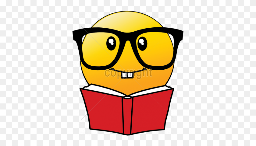 Emoji Clipart Reading - Reading Book Clip Art