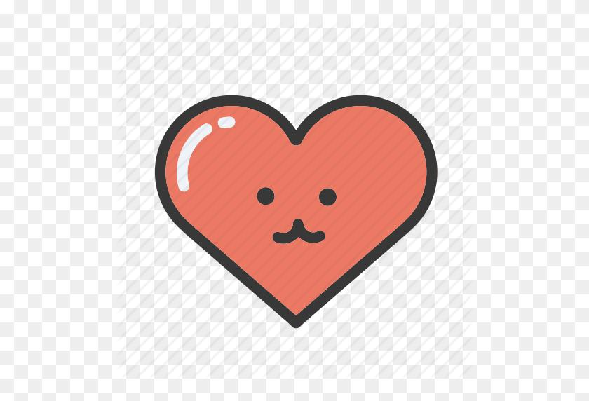 Emoji, Emojis, Emoticon, Heart, Hearts, Love, Valentines Icon - Heart Emoji PNG
