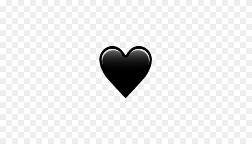 Emoji Emojis Iphoneemoji Black Heart Black Heart Emoji Png